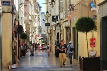 Pedestrian roadsin Avignon