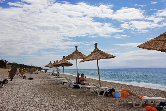 At the beach in Southern Albania