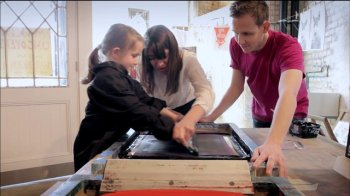 Learning to screen print