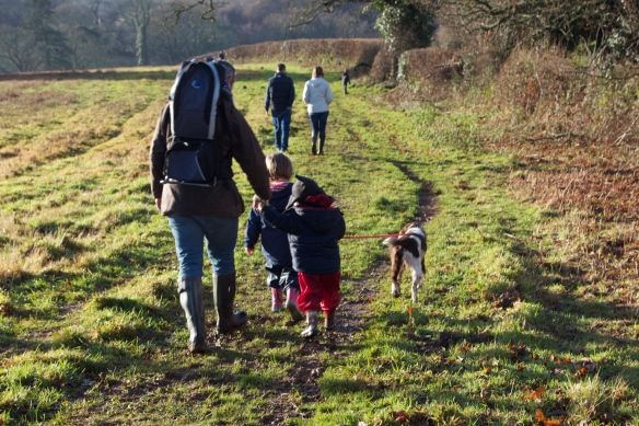 My son is the youngest one and this is one of his favourite activities, going for a walk with the dog, his cousins, parents and aunties and uncles